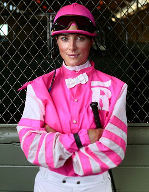 Chantal Sutherland. There are few female jockeys at the highest level, and she holds her own against a male dominated sport.