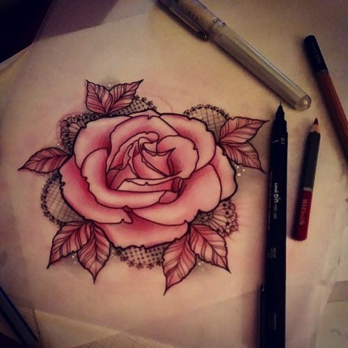 Rodjaasexface lacey rose design that id like to tattoo for How to email a tattoo artist