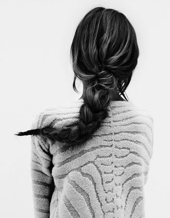 #her #woman #hair #braid #bw #zebra #inspiration