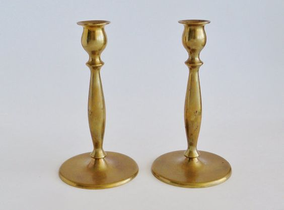 Classic Brass Taper Candlesticks by SunshineSurprises on Etsy