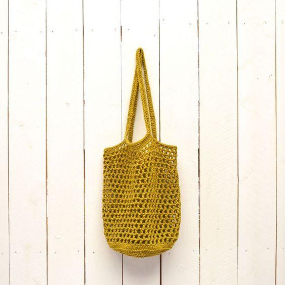 Bolsa mercado bolsa bolso de compras tejido por theGoodShnit
