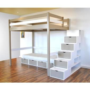 mezzanine escalier cube chambre enfants arc pinterest mezzanine search and cubes. Black Bedroom Furniture Sets. Home Design Ideas