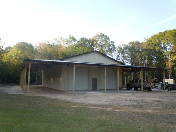Barn+Living+Pole+Quarter+With+Metal+Buildings 40x60 Pole Barn