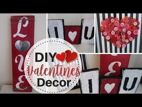 Diy Dollar Tree Valentines Decor 3 Rustic Valentines Decor Scrapwood And Dollar Tree Item Diy Valentines Decorations Valentine Crafts Diy Dollar Tree Gifts