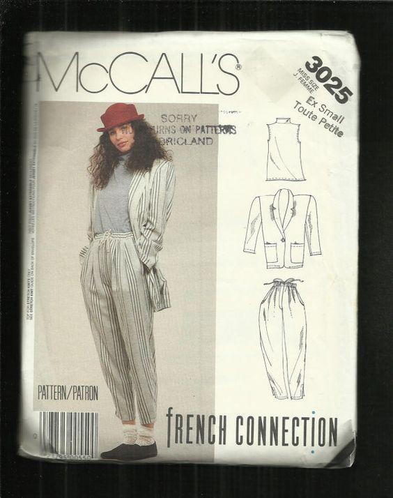 Vintage 1980's McCalls 3025 Modern Zoot Suit by ThimbledFingerTips