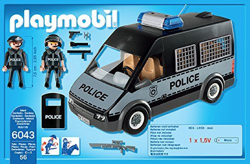 playmobil 6043 voiture de patrouille de la police avec son et lumi re jeux et. Black Bedroom Furniture Sets. Home Design Ideas