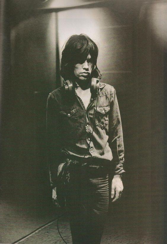 Mick Jagger, Sunset Sound Studios, Los Angeles, by Jim Marshall, January 1972