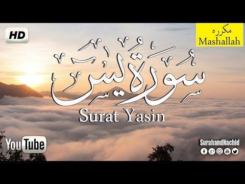 سورة يس مكتوبة تلاوه هادئه تريح القلب والعقل سبحان من رزقه هذا الصوت كاملــــه Hd Surah Yasin Youtube In 2021 Quran Youtube Calligraphy