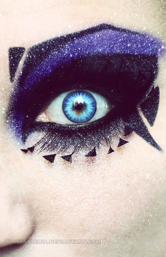 Deathrock make-up X by DarkAsterial-Vision on deviantART