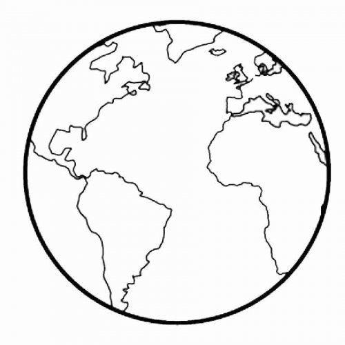 Dibujo Para Imprimir Y Colorear De La Tierra Mundo Para Colorear La Tierra Dibujo Dibujo De Mundo