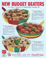 Campbell's Kids New Budget Beater Recipes 1959 Ad Picture
