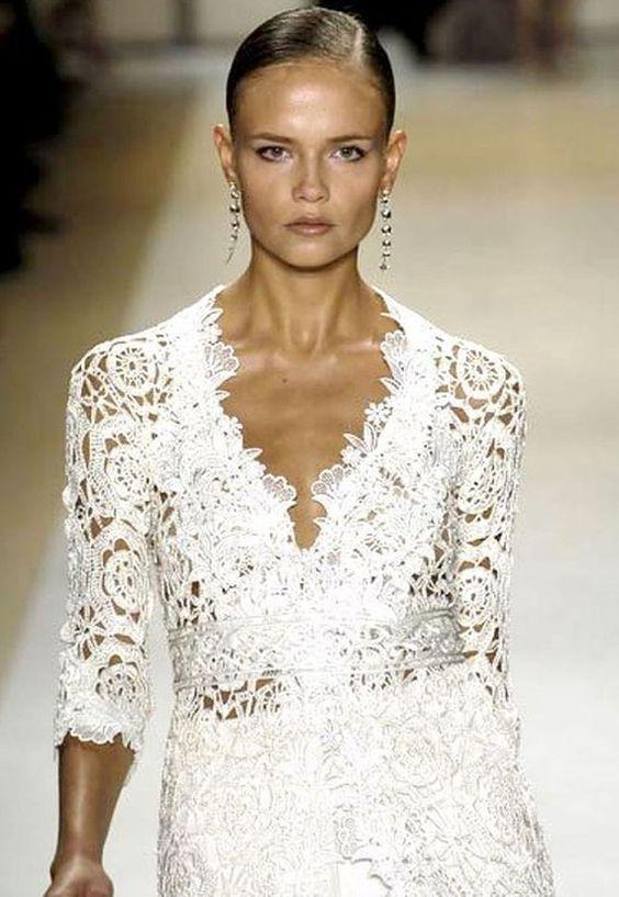 Crochet patterns pdf ebook carlos miele designer spring for Crochet wedding dresses for sale