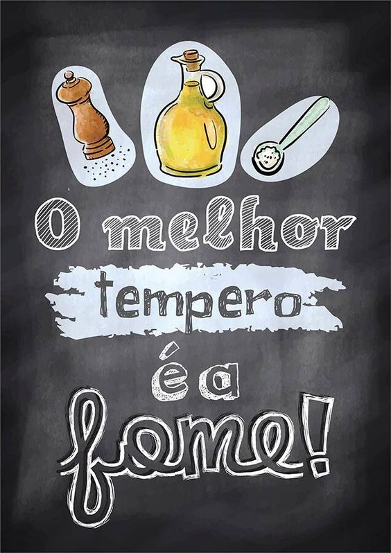 Poster Quadro Negro p/ Cozinha: