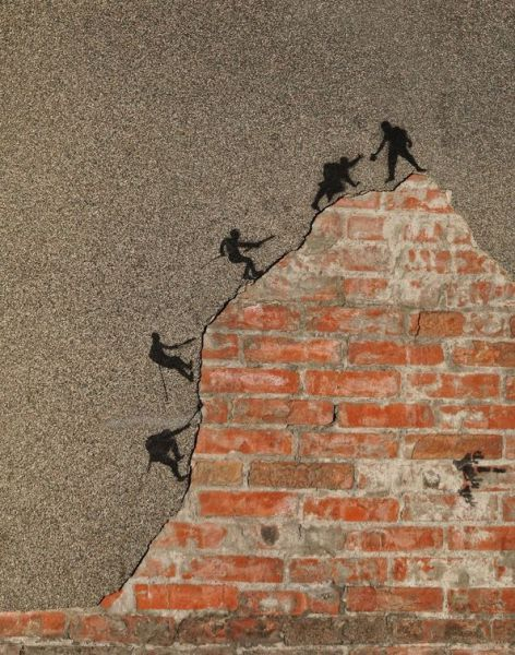 climbing walls: I LOVE this! pure GENIUS! You can overcome ANY obstacle placed in front of you!: