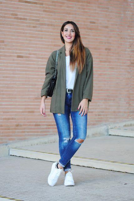 Kaki blazer. http://www.fashion-south.com/2015/10/kaki-blazer.html