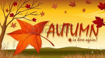 hojas de otoño dibujo: Ilustración de un signo de la temporada de otoño