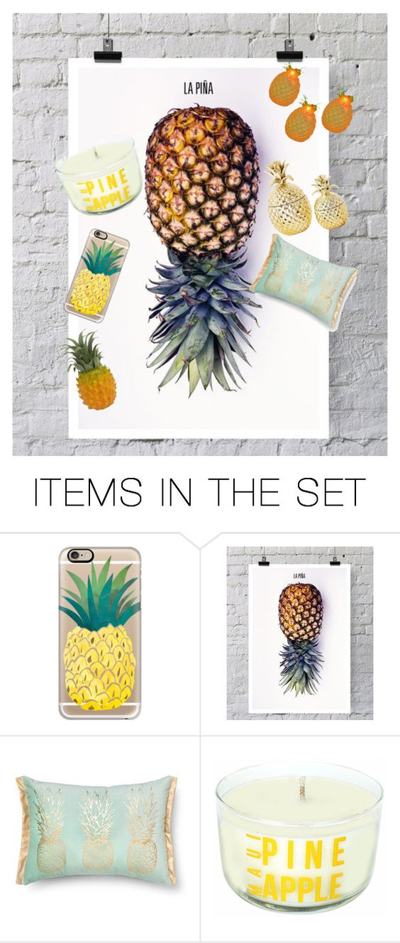 """Pineapples"" by creel20613 ❤ liked on Polyvore featuring art"