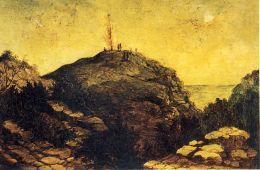 """""""Olhando para o retorno dos guerreiros mortos"""" por FT I'Ons.  Isto é pensado para representar a cena em 18 de fevereiro de 1858:"""
