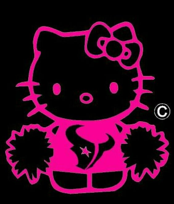 Texans Hello Kitty Cat Pink Heat Transfers Vinyl Iron On Decals Custom Designs For T Shirts Transfers Hello Kitty Hello Kitty Bow Hello Kitty Art