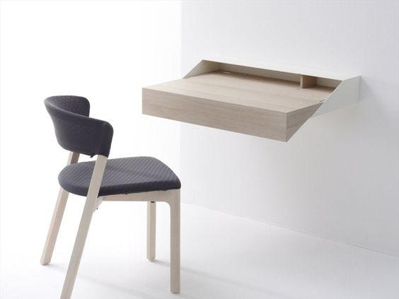 Schreibtisch / Wandregal aus Holz DESKBOX by Arco Contemporary Furniture