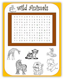 math worksheet : free primary animal worksheets  wild animals wordsearch  quick  : Wild Animals Worksheets For Kindergarten