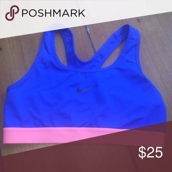 Nike sports bra Cobalt blue with orange trim Nike Tops