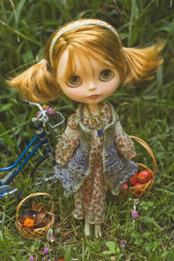 SALE Country Fields. Bohemian Dress Knitted por SugarMountainArt
