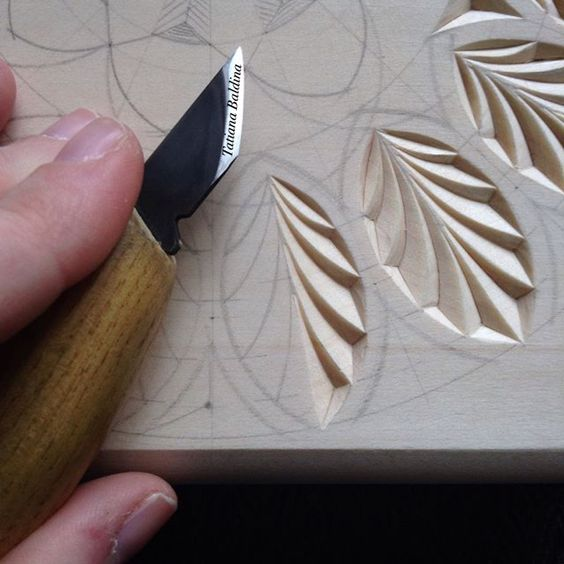 Chip carving pattern by tatiana baldina instagram