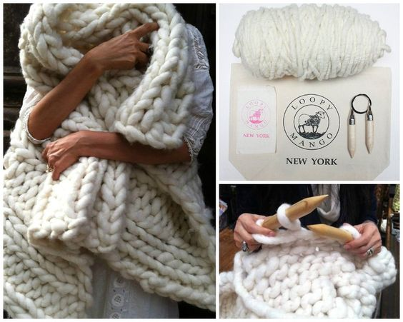 LoopyMango Nantucket wrap knit kit / Stola ivory von Atelyeah auf DaWanda.com Now available in GERMANY!!!