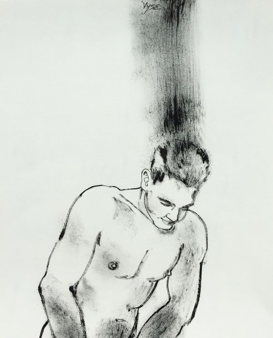 "Summer Guy by Vyse Indian ink 14""x17"""