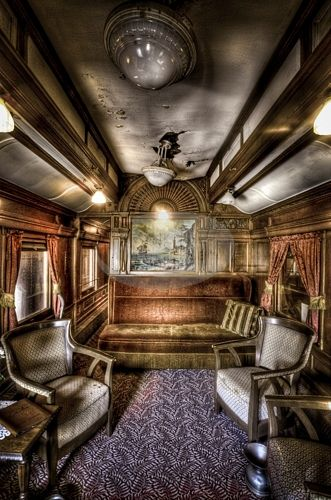 Train Passenger car interior
