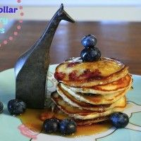 Silver Dollar Blueberry Pancakes