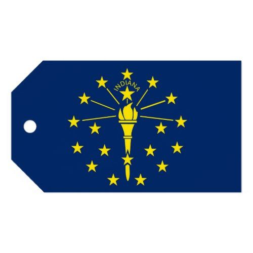 Gift Tag With Flag Of Indiana State Usa Gift Tags Flag Indiana State Flag