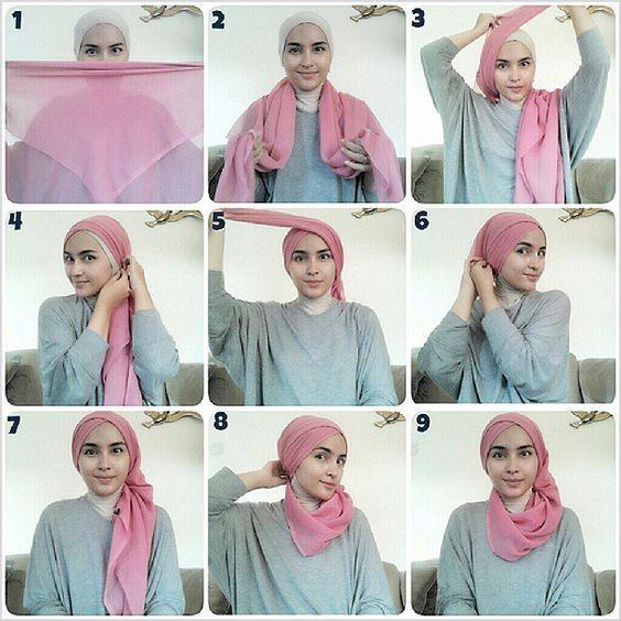 Tutorial Model Hijab Paris Simple Kerudung Jilbab Sederhana Tutorial Hijab Mudah