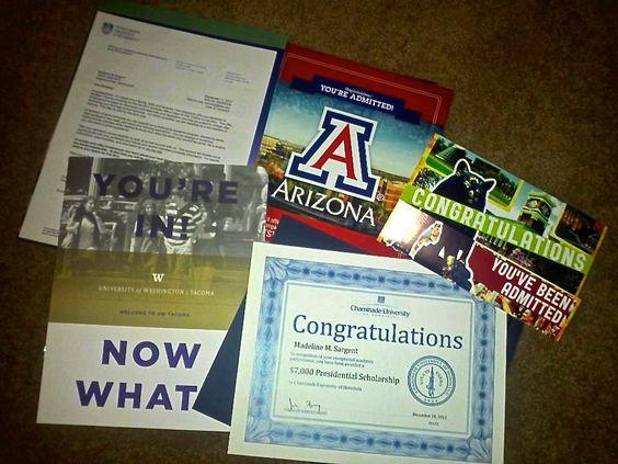 college acceptance letter - Google Search Stuff Pinterest - college acceptance letters