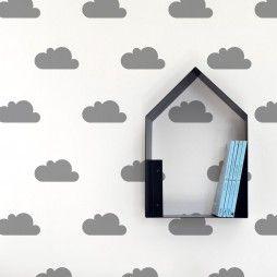 Vinilo infantil original de nubes grises - Minimoi