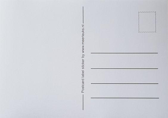 Maak nu je eigen postkaarten met de postcard label stickers van 'Meer Leuks'. Gebruik het papier wat jij leuk vindt, bijvoorbeeld een oud magazine en knip daar dan een mooi papier uit wat je kaart moet gaan worden. Plak op de achterkant een label sticker, en je hebt je eigen ansichtkaart gemaakt. Eenvoudig, en echt superleuk. #postcardlabelsticker #postcard