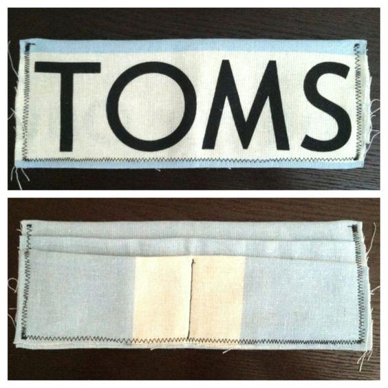 TOMS wallet made out of Toms bag! Super easy.