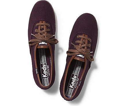 keds champion burgundy leather sneaker