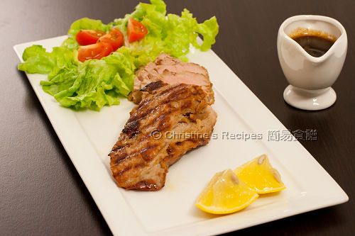 烤豬柳配薑檸檬汁 Grilled Pork Fillet in Ginger Honey Sauce