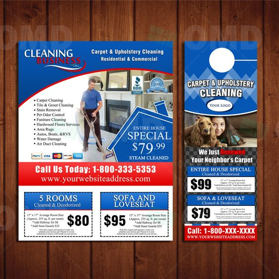 Custom Carpet Cleaning Marketing Materials - Flyer Design & Door ...
