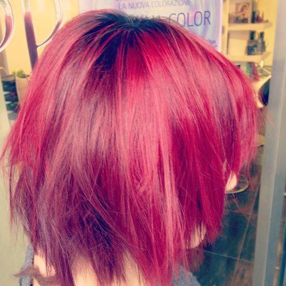 Cristina .... RedRose.... #rockandroll #hardcolor #hairbari #hairtyle #londonstyle #style #swag #strong #quality #toniandguy #hair #sebastianhair  #tophair ... Qualità ...#chiarahairstyle