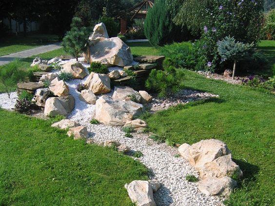 japanischer garten steine kies pflanzen elemente vorgarten - innovative matratze fur doppelbett erlaubt eine bewegungsfreiheit