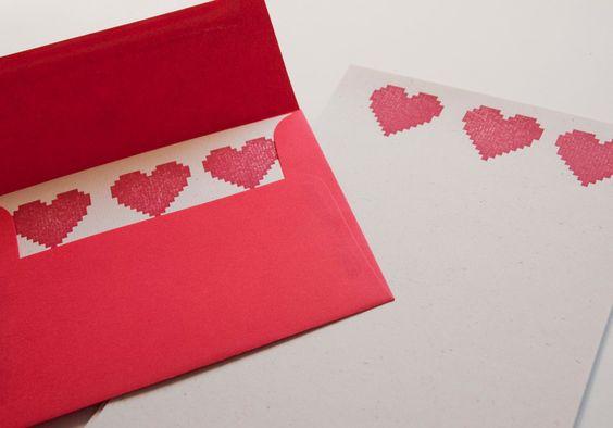 8 bit valentine's day cards