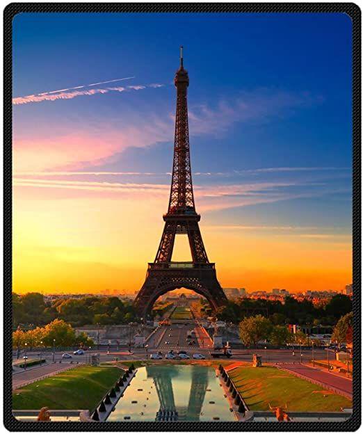 Custom Wonderful Sunset Paris Eiffel Tower Supersoft Throw Fleece Blanket 50 Quot X60 Quot In 2020 Paris Tour Eiffel Eiffel Tower Paris Travel