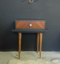 Table de chevet vintage broie du noir nouveau look pour nouvelle vie pint - Table de nuit vintage ...
