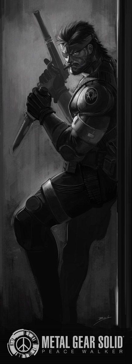 Big Boss infiltration. Metal Gear Solid: Peace Walker artwork by Brolo.