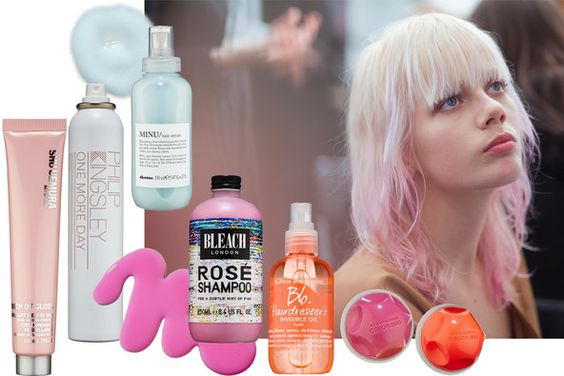 Achieving pastel hair is time-consuming and toxic, requiring first a full platinum bleach, which can take several trips to the salon or sink. But then the fun begins. (Photo: Schohaja; Products: Marko Metzinger)