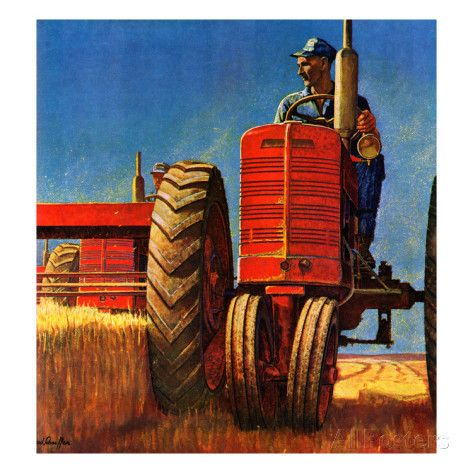 """""""Wheat Harvest"""", August 12, 1950 Giclee Print by Mead Schaeffer at AllPosters.com"""
