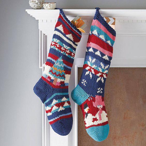 hand knitted christmas stocking by chunkichilli   notonthehighstreet.com